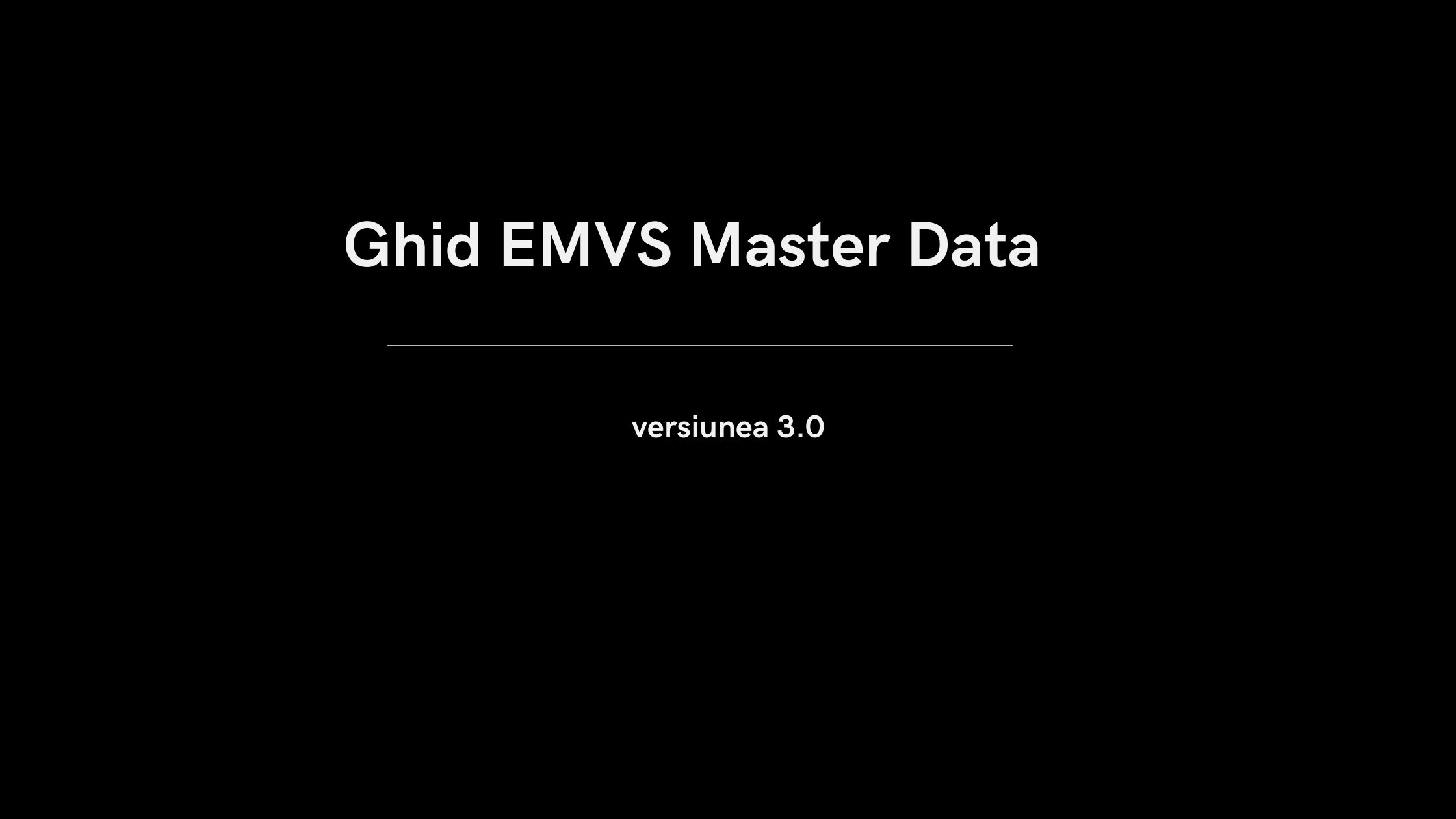 Ghid EMVS Master Data